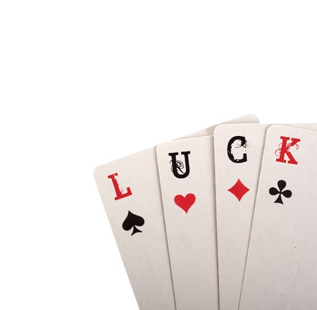 Four card. Luck concept with copyspace Stock Photo - 9467880