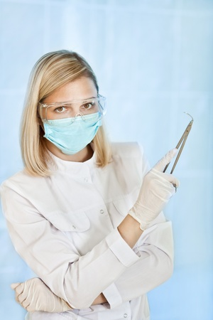 young female medical doctor in hospital photo