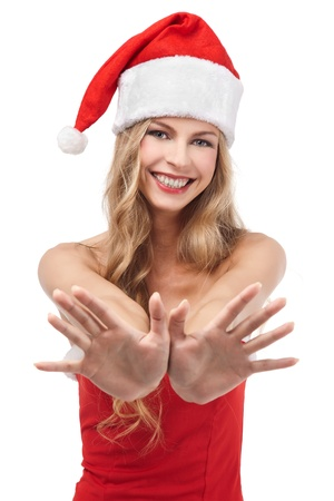 Happy Christmas woman wearing Santa costume Stock Photo - 11590859