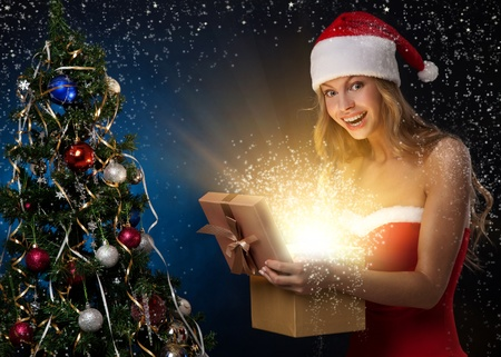 Beautiful christmas woman Stock Photo - 11590876