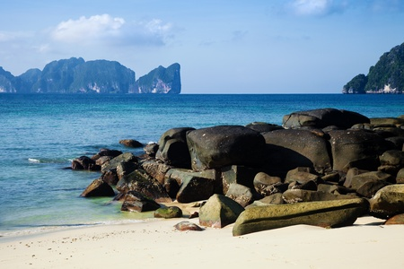 phi phi island: morning in Phi phi island Thailand