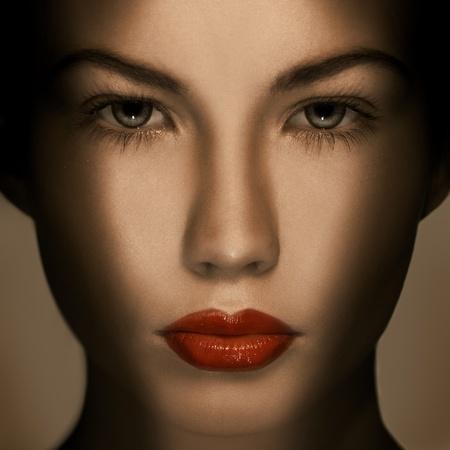 unecht: Sch�ne Mode Luxus Make-up