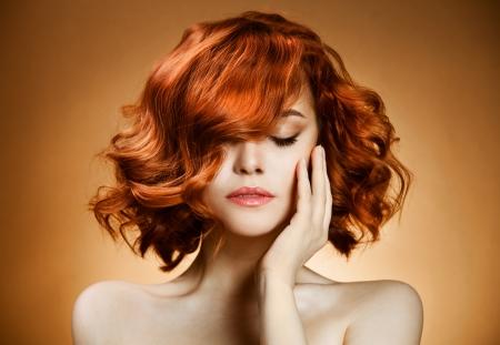 Beauty Portrait. Curly Hair Stock Photo - 12638950