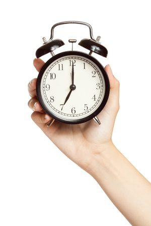 clock hands: In Time Stock Photo