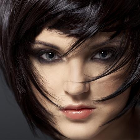 Beautiful Brunette Girl.Healthy Hair.Hairstyle.