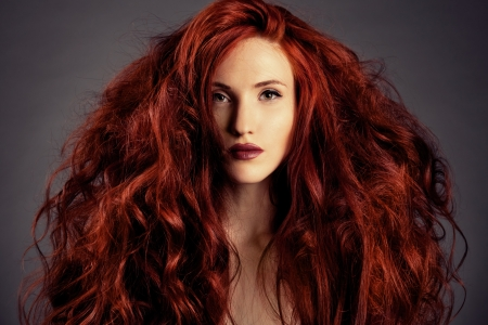 Red Hair. Fashion Girl Portrait  photo