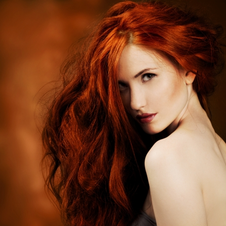 Red Hair. Fashion Girl Portrait  Stock Photo - 15018045