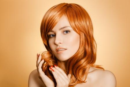 Beauty Portrait. Curly Long Hair Stock Photo - 16190572