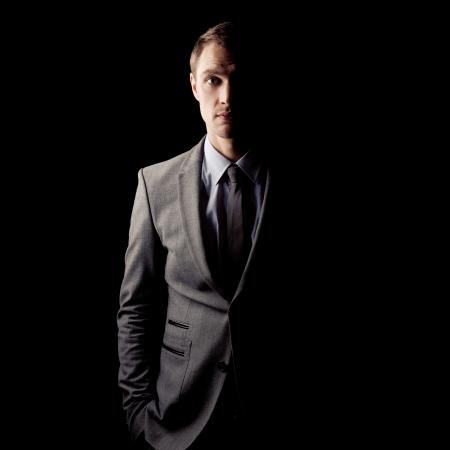 agent de s�curit�: Le c�t� obscur du portrait de human.Psychological Banque d'images