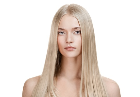 Beautiful Blonde Girl. Healthy Long Hair  photo