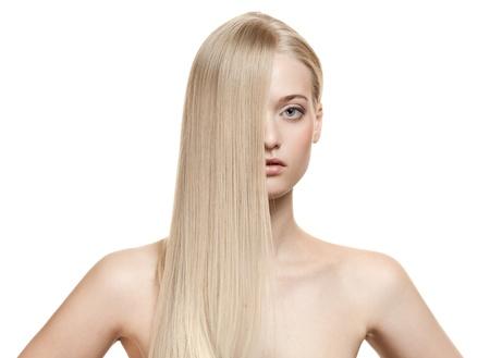 Beautiful Blonde Girl. Healthy Long Hair Stock Photo - 16440044