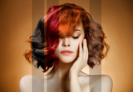 Beauty Portrait. Concept Coloring Hair  photo