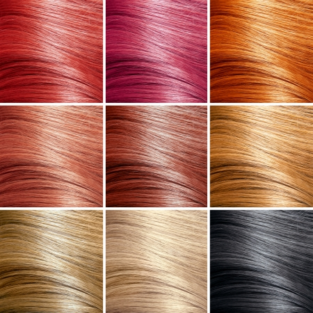 flaxen: Hair Colors Set. Tints