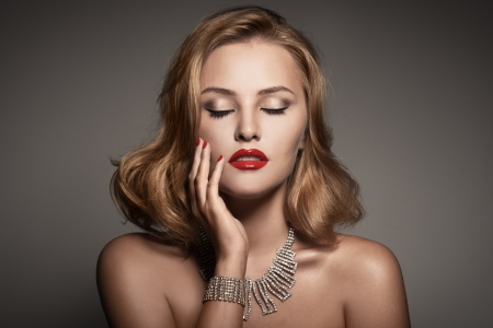 Fashion Portrait Of Beautiful Luxury Woman With Jewelry Stock Photo - 17626244