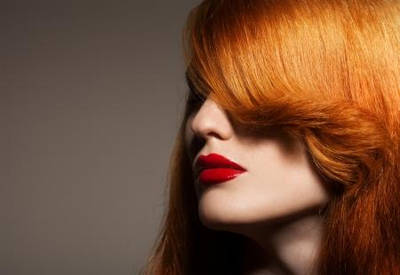 Beauty Portrait. Healthy Bright Hair 版權商用圖片