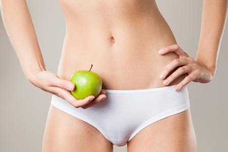 cuerpo femenino perfecto: Perfect Body Mujer Delgada. Concepto de la dieta