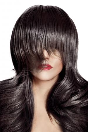 Beauty Portrait. Healthy Long Hair.