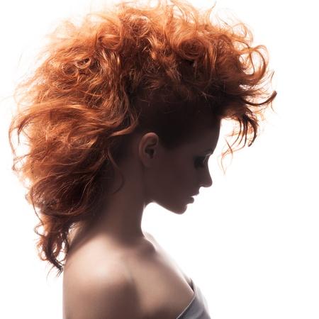 Retrato de la belleza. Peinado Foto de archivo