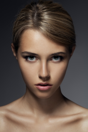 Fashion Portrait. Beautiful Woman Face photo