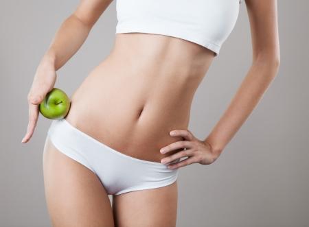 diet concept: Perfect Slim Woman Body. Diet Concept