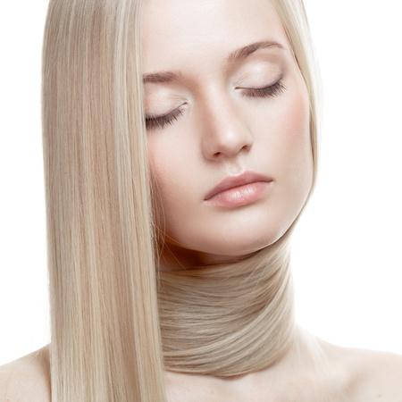Beautiful Blonde Girl. Healthy Long Hair Stock Photo - 21976363