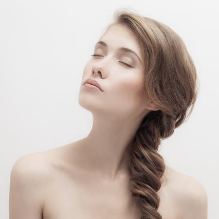 Beautiful Blonde Girl. Braid Hairstyle. Stock Photo - 21976396