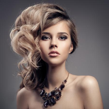 fashion jewellery: Fashion Portrait Of Luxury Woman With Jewelry. Stock Photo