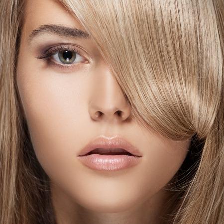 Beautiful Blond Girl. Healthy Long Hair.  photo