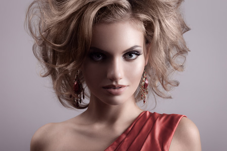 Fashion Portrait Of Beautiful Woman. photo