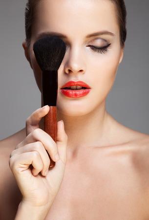 smokey: Beautiful woman. Make-up Face.