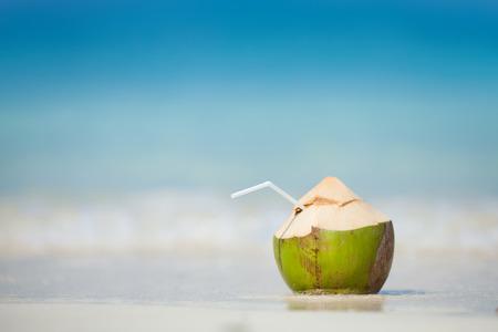 cocotier: Noix de coco sur la plage