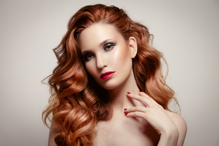 Beauty Portrait. Hairstyle photo