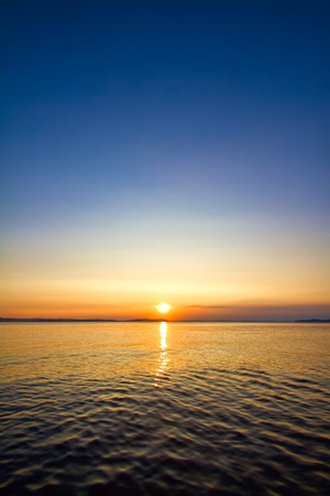 horizons: sundown seascape