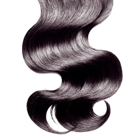 Krullend zwart haar over wit