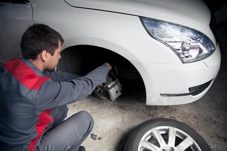 Car mechanic. Auto repair service. Reklamní fotografie