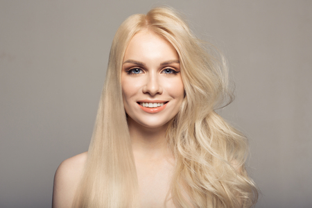 Concept keratin straightening hair. Stock Photo - 76685007