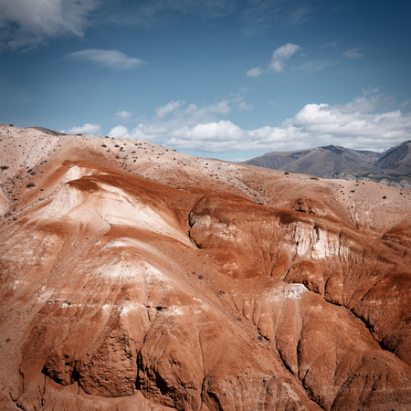 Red mountains called Mars in the Altai Republic 版權商用圖片