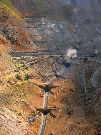 natural mineral mining area -vertical