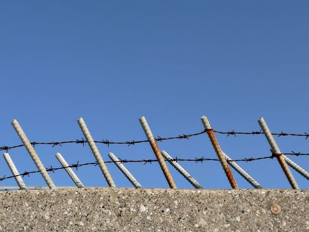 barbed fence Stock Photo - 541264