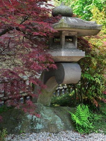 lantern in japanese stone garden, Tokyo Japan