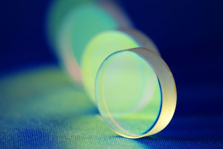 laser industry optical components  Stock Photo