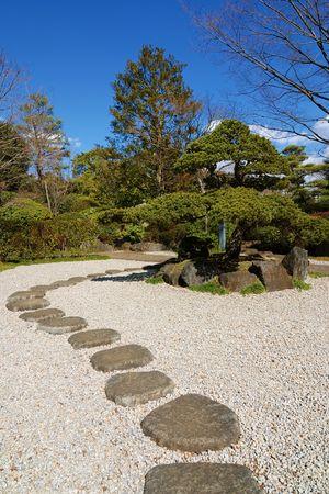 sonnigen Tag im Zen-Garten, Tokio Japan