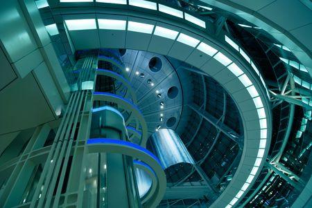 abstracte moderne futuristische architectuur interieur achtergrond, Tokio, Japan