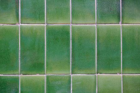pale color:  detailed green ceramic tile wall background with pale color tones Stock Photo