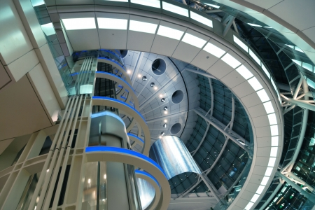 abstract modern futuristic architectural interior background, Tokyo, Japan