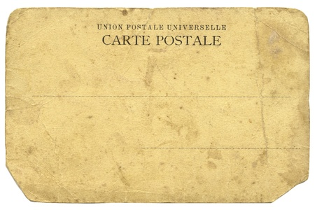 xx century: hires scan of vintage French postcard, issued in beginning of XX century; clip path is included Stock Photo