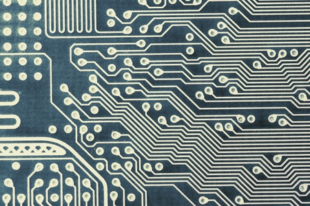 computer printed circuit board detailed fragment Stock Photo - 13196977