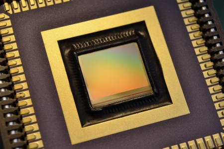 ccd: CCD camera sensor macro; shallow depth of field Stock Photo
