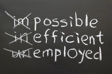 empleadas: cambiar su forma de pensar para ser empleados concepto
