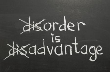positive thinking concept handwritten on blackboard
